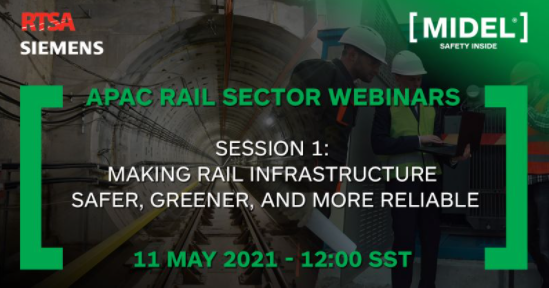MIDEL poster for webinar 11th May 2021 on rail infrastructure